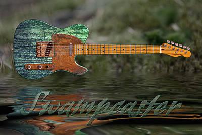 Bayou Digital Art - Swampcaster by WB Johnston