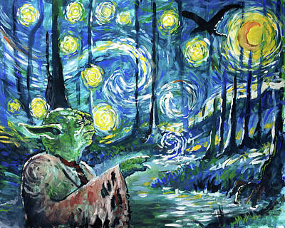 Painting - Swampy Night by Tom Carlton