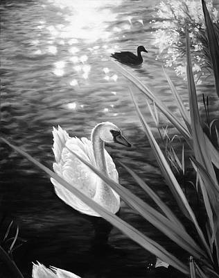 Painting - Swan 1 by Matthew Martelli