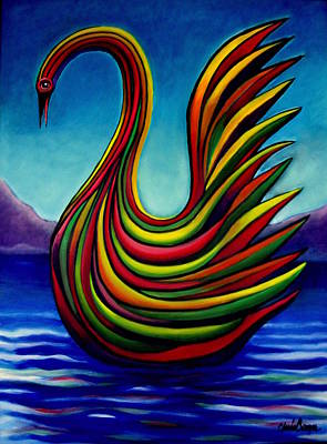 Painting - Swan #2 by Chris Boone