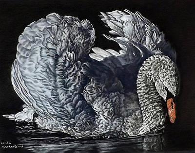Painting - Swan #2 by Linda Becker