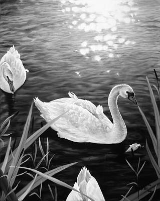 Painting - Swan 3 by Matthew Martelli