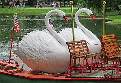 Photograph - Swan Boat Boston Common by Randall Weidner