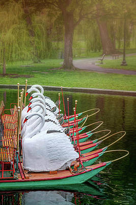 Photograph - Swan Boats Of Boston Public Garden  by Carol Japp