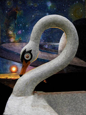 Digital Art - Swan Boats On Titan by William Sargent