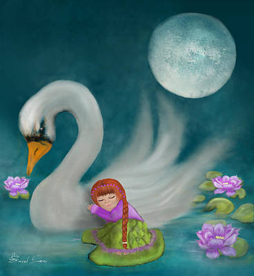 Painting - Swan Dreams By Sannel Larson by Sannel Larson