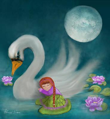 Painting - Swan Dreams By Sannel Larson by Sannel Larson