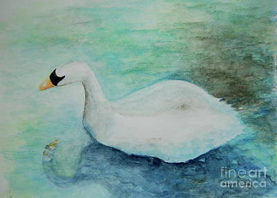 Painting - Swan Flight by Tamyra Crossley