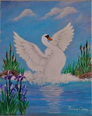 Painting - Swan by Fram Cama