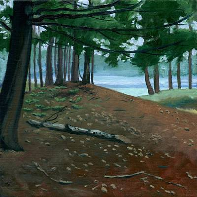 Wall Art - Painting - Swan Island Woods One by Arlene Kelley