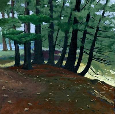 Wall Art - Painting - Swan Island Woods Two by Arlene Kelley
