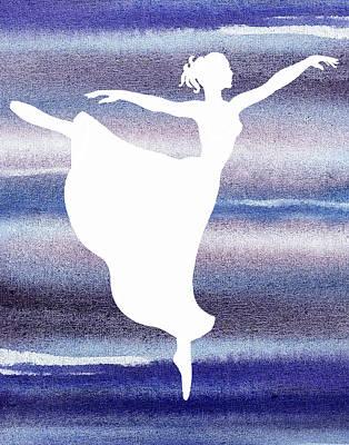 Painting - Swan Lake Arabesque Ballerina Silhouette  by Irina Sztukowski