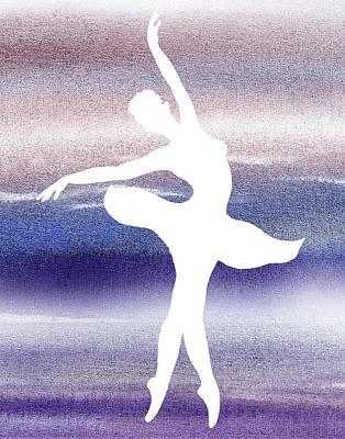 Painting - Swan Lake Ballerina Silhouette by Irina Sztukowski