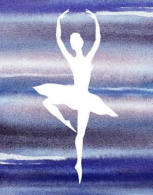 Painting - Swan Lake Dance Ballerina by Irina Sztukowski