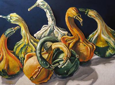 Swan Lake Print by Outre Art  Natalie Eisen