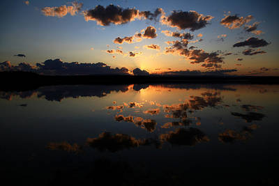 Photograph - Swan Lake Sunset by Geoff Payne