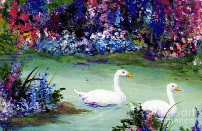 Mixed Media - Swan Lake by Writermore Arts