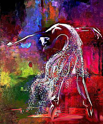Digital Art - Swan by Lynda Payton