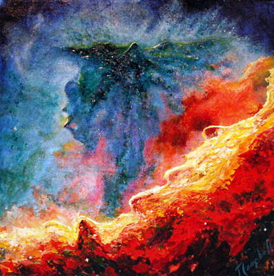 Painting - Swan Nebula by Trish Campbell