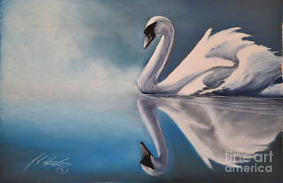 Swan Reflection Original