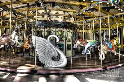 Swan Seat At The Carousel  Art Print by Michael Garyet