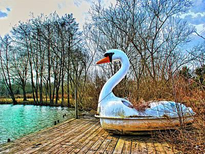 Swan Mixed Media - Swan Song by Dominic Piperata
