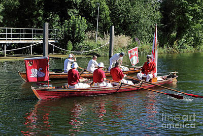 Photograph - Swan Upping On The Thames In Surrey by Julia Gavin
