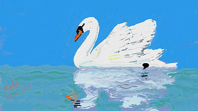 Swan Wan Art Print