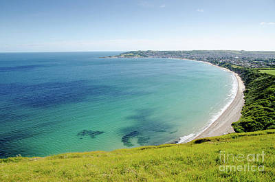 Swanage Bay The Bay At Swanage Dorset England Uk Art Print by Andy Smy