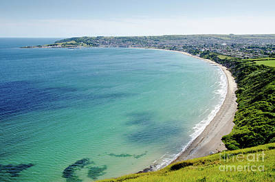 Swanage Blue The Clear Waters Of Swanage Bay In Dorset England Uk Art Print