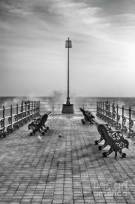 Photograph - Swanage Jetty Black And White by Linsey Williams