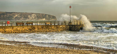 Photograph - Swanage Jetty In Rough Weather by Linsey Williams