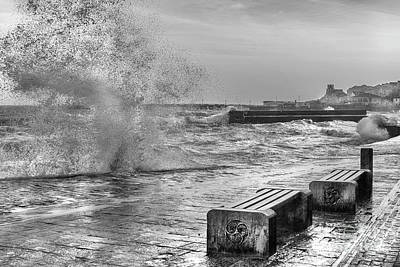 Photograph - Swanage Storm by Linsey Williams