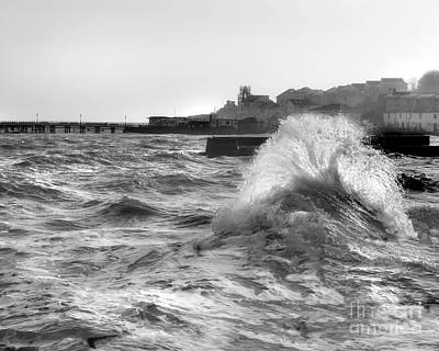 Photograph - Swanage Winter Storm 2 by Linsey Williams