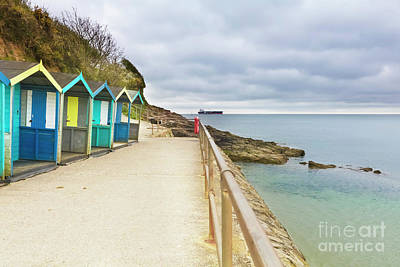 Photograph - Swanpool Beach Huts by Terri Waters
