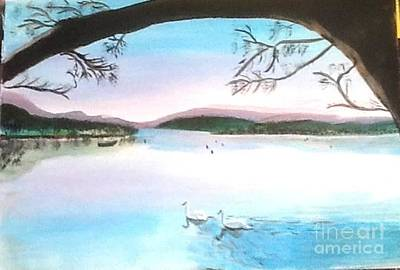 Painting - Swans At Leisure by Audrey Pollitt