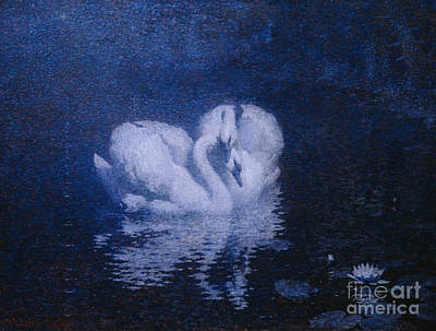 Painting - Swans by William Robinson Leigh
