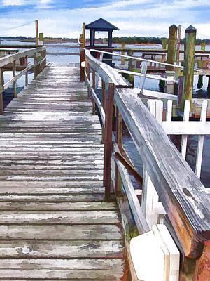 Swansboro Painting - Swansboro Dock by Lanjee Chee