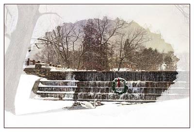 Photograph - Swansea Dam At Christmas by Robin-Lee Vieira