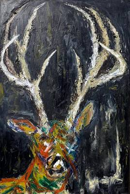 Wall Art - Painting - Swanson The Deer by Tessa Lang