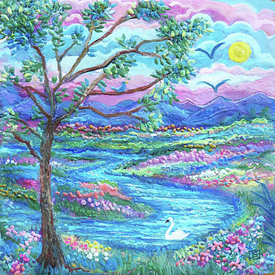 Painting - Swany River by Jean Batzell Fitzgerald