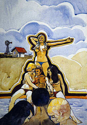 Kenyon Painting - Swap Smorgasbord by Dennis Naumick