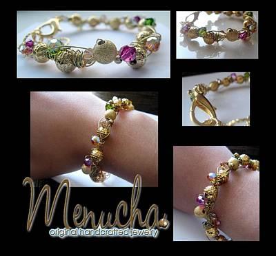 Wire Wrap Bracelet Jewelry - Swarovski Mania by Menucha Citron