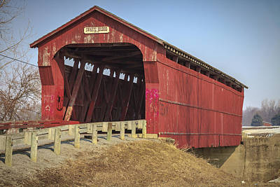 Music Royalty-Free and Rights-Managed Images - Swartz Covered Bridge  by Jack R Perry