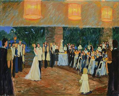 September 11 Painting - Swarwark/soskin Wedding, Botanical Gardens, Chicago, Il,  Www.ronaldbayens.com by Ronald Bayens