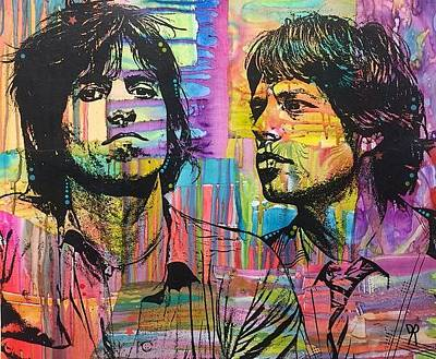 Mick Jagger Mixed Media - Sway by Dean Russo