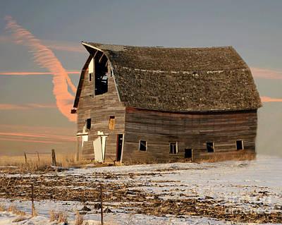 Photograph - Swayback Barn by Kathy M Krause