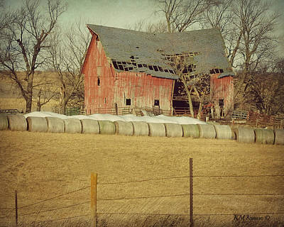 Photograph - Swayback Barn Roof And Gap by Kathy M Krause