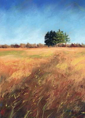 Swaying Amber Art Print by Christine Camp