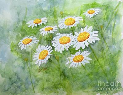 Painting - Swaying Daisies  by Barrie Stark